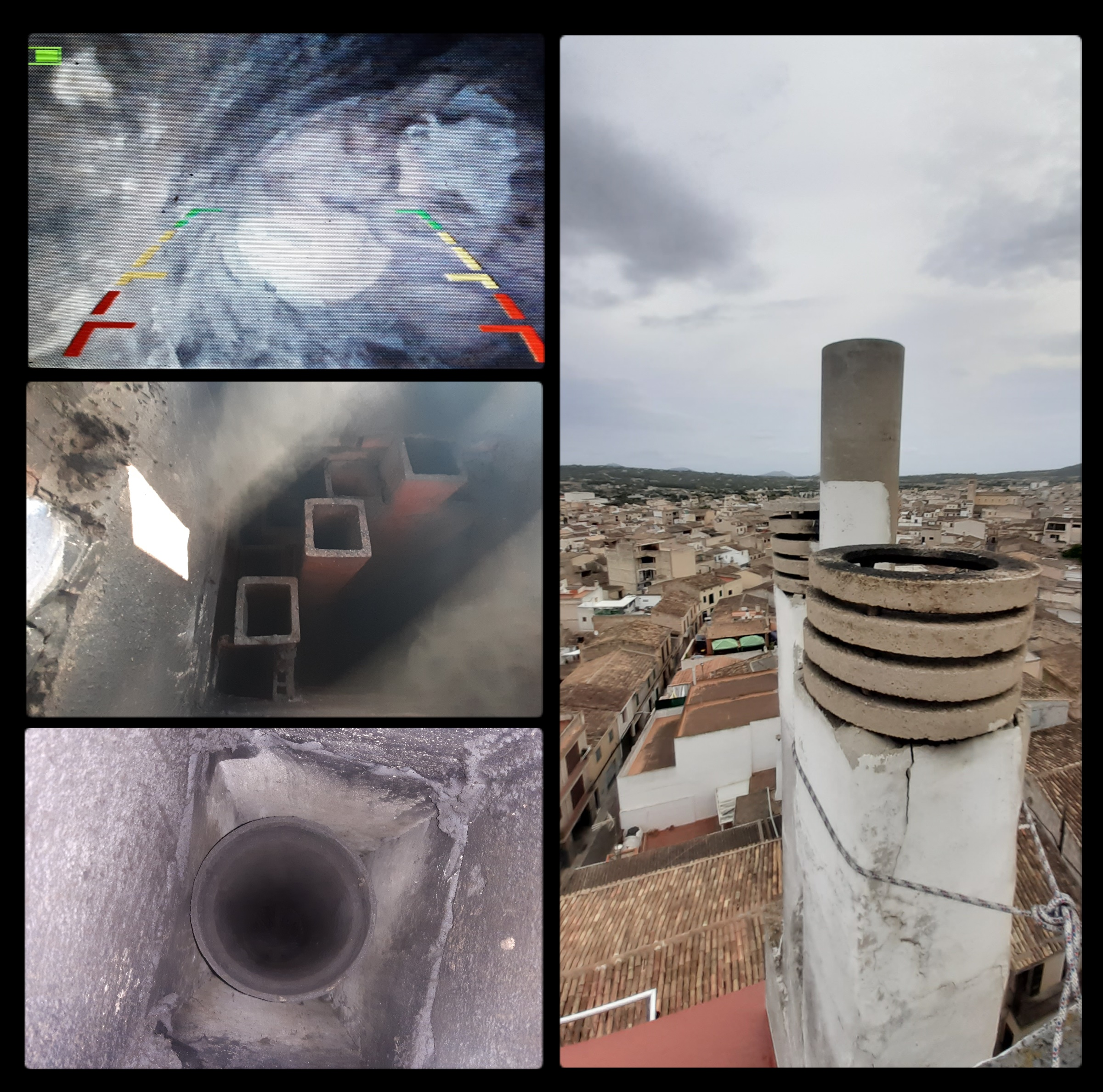 video inspección de chimeneas